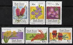 Cinderella - Hutt River Province 1986 Wild Flowers perf set of 6 unmounted mint ($3.71 face)