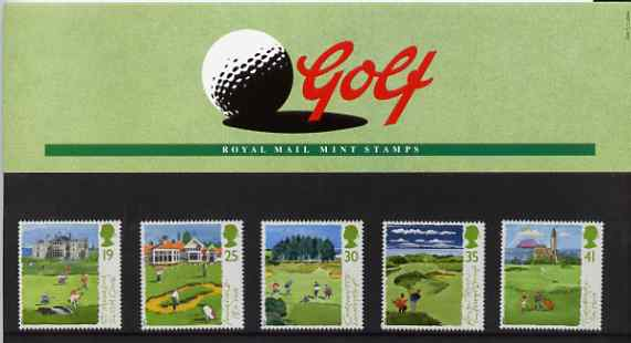 Great Britain 1994 Scottish Golf Courses set of 5 in official presentation pack SG 1829-33