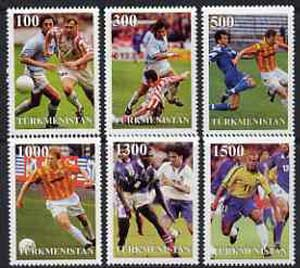 Turkmenistan 1997 Football World Cup complete perf set of 6 values unmounted mint
