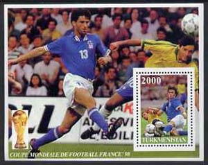 Turkmenistan 1997 Football World Cup perf souvenir sheet unmounted mint