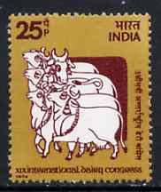 India 1974 International Dairy Congress (Cloth Painting of Cows) unmounted mint SG 751*