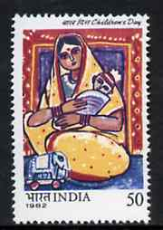 India 1982 Children's Day (Painting of Mother and Child) unmounted mint SG 1060*