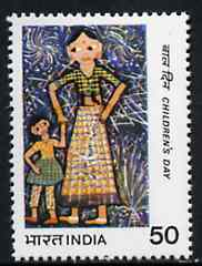 India 1983 Children's Day (Painting of Woman and Child) unmounted mint SG 1103*