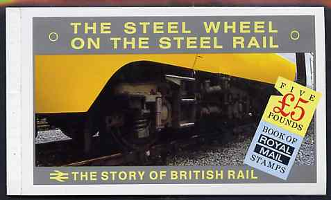 Booklet - Great Britain 1986 The Story of The British Rail \A35 prestige booklet very fine, SG DX7