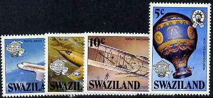 Swaziland 1983 Bicentenary of Manned Flight set of 4 unmounted mint, SG 431-34