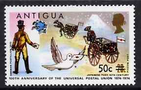 Antigua 1975 50c on 20c from provisional surcharges set unmounted mint, SG 422*
