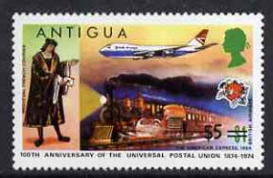 Antigua 1975 $5 on $1 from provisional surcharges set unmounted mint, SG 424*