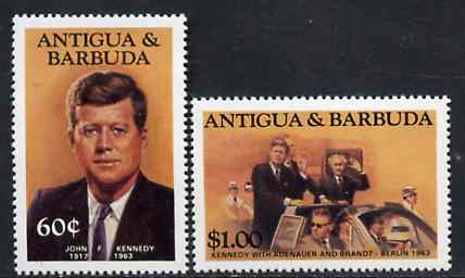 Antigua 1984 John Kennedy 60c & $1 from Famous People set of 8 unmounted mint, SG 890 & 894*