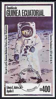 Equatorial Guinea 1978 USA Astronauts 400ek imperf deluxe sheet (Ed Aldrin)  cto used