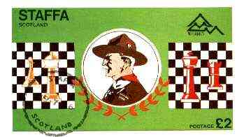 Staffa 1978 Scouts & Chess imperf deluxe sheet (�2 value) cto used