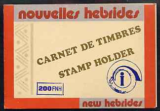 Booklet - New Hebrides - French 1980 Island Maps 200f booklet complete and very fine, SG FSB1
