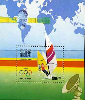 Guinea - Bissau 1984 Los Angeles Olympic Games  (2nd Issues) perf m/sheet (Wind surfing) unmounted mint SG MS 850, Mi BL 260