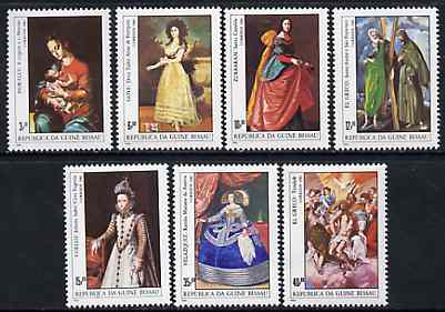 Guinea - Bissau 1984 Espana '84 Stamp Exhibition (Paintings) perf set of 7 unmounted mint, SG 835-41, Mi 757-63*