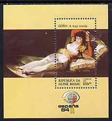 Guinea - Bissau 1984 Espana '84 Stamp Exhibition (Paintings) perf m/sheet (Goya) unmounted mint SG MS 842, Mi BL 259