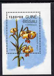Guinea - Bissau 1989 Lilies m/sheet unmounted mint, SG MS 1134, Mi BL 278