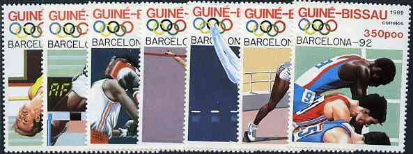 Guinea - Bissau 1989 Barcelona Olympic Games  (1st Issues) set of 7 unmounted mint, SG 1119-25, Mi 1041-47*