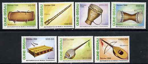 Guinea - Bissau 1989 Traditional Musical Instruments perf set of 7 unmounted mint, SG 1089-95, Mi 1011-17*