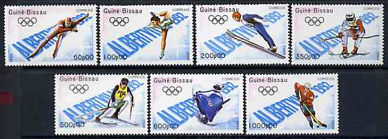 Guinea - Bissau 1989 Albertville Winter Olympic Games set of 7 unmounted mint, SG 1166-72, Mi 1088-94*