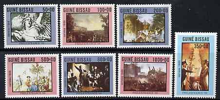 Guinea - Bissau 1989 PhilexFrance '89 Stamp Exhibition (Paintings) set of 7 unmounted mint, SG 1135-41, Mi 1057-63*