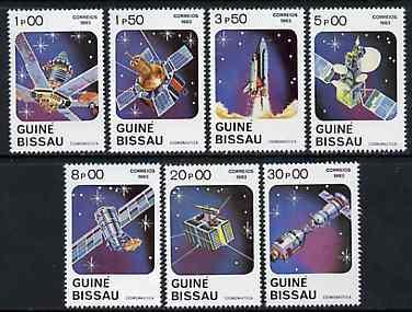 Guinea - Bissau 1983 Cosmonautics Day (Rockets & Satellites) set of 7 unmounted mint, SG 743-49, Mi 666-72*