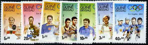 Guinea - Bissau 1983 Los Angeles Olympic Games  (1st Issues) perf set of 7 unmounted mint, SG 767-73, Mi 690-96*