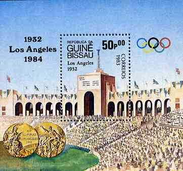 Guinea - Bissau 1983 Los Angeles Olympic Games  (1st Issues) m/sheet (Stadium) unmounted mint SG MS 774, Mi BL252