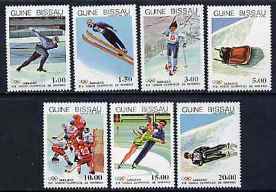 Guinea - Bissau 1983 Sarajevo Winter Olympic Games set of 7 unmounted mint, SG 786-92, Mi 709-15*