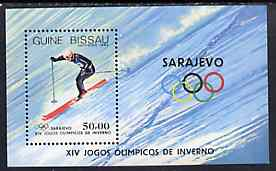 Guinea - Bissau 1983 Sarajevo Winter Olympic Games m/sheet (Downhill Skiing) unmounted mint SG MS 793, Mi BL 255