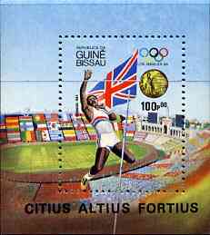 Guinea - Bissau 1983 Los Angeles Olympic Games  Gold Medallists m/sheet unmounted mint, SG MS 903, Mi BL 261