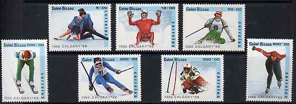 Guinea - Bissau 1988 Calgary Winter Olympic Games unmounted mint set of 7 (incl Torvill & Dean) SG 1005-11, Mi 927-33*