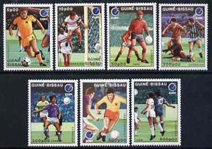 Guinea - Bissau 1988 Essen '88 Stamp Fair & European Football Championships, unmounted mint set of 7, SG 1021-27, Mi 943-49*