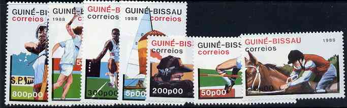 Guinea - Bissau 1988 Seoul Olympic Games unmounted mint set of 7, SG 1013-19, Mi 935-41*