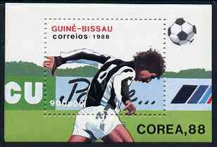 Guinea - Bissau 1988 Seoul Olympic Games unmounted mint m/sheet (Football) SG MS 1020, Mi BL 271