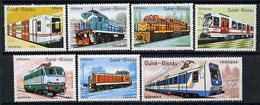 Guinea - Bissau 1989 Trains, perf set of 7 unmounted mint, SG 1111-17, Mi 1033-39*