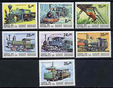 Guinea - Bissau 1984 Locomotives, perf set of 7 unmounted mint, SG 904-10, Mi 826-32*