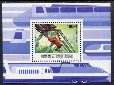 Guinea - Bissau 1984 Locomotives, perf m/sheet (Overhead Railway) unmounted mint SG MS 911, Mi BL 262