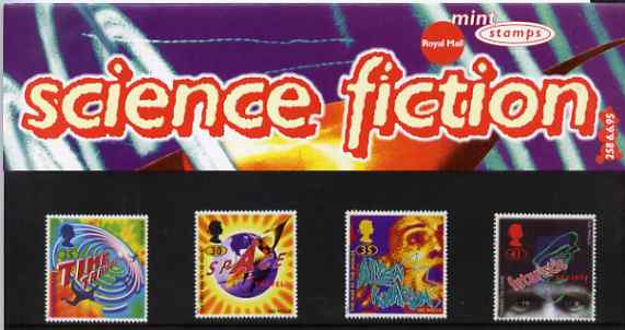 Great Britain 1995 Science Fiction Novels by H G Wells set of 4 in official presentation pack SG 1878-81