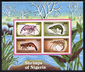 Nigeria 1988 Shrimps m/sheet unmounted mint imperforate (SG MS 564var)