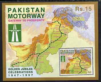 Pakistan 1997 Golden Jubilee Celebrations (Motorway) perf m/sheet unmounted mint