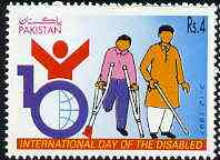 Pakistan 1997 International Day for the Disabled 4r unmounted mint*
