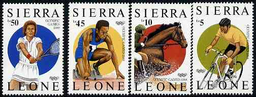 Sierra Leone 1987 Seoul Olympic Games (1st Issue) set of 4 unmounted mint, SG 1043-46*