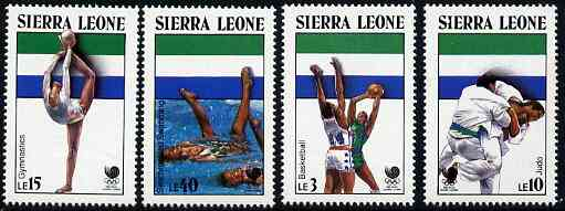 Sierra Leone 1988 Seoul Olympic Games (2nd Issue) set of 4 unmounted mint, SG 1137-40*