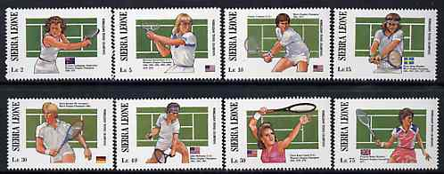 Sierra Leone 1990 Wimbledon Tennis Champions complete set of 8 unmounted mint, SG 1068-75*
