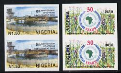 Nigeria 1994 30th Anniversary of African Development Bank set of 2 in unmounted mint imperf pairs