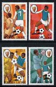 Sierra Leone 1982 Football World Cup set of 4 unmounted mint, SG 702-05