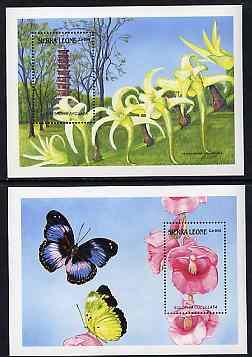 Sierra Leone 1989 Orchids of Sierra Leone set of 2 m/sheets unmounted mint, SG MS 1311