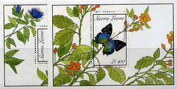Sierra Leone 1989 Butterflies set of 2 m/sheets unmounted mint, SG MS 1320