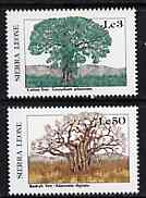 Sierra Leone 1987 Trees - the 2 values unmounted mint from Flora & Fauna set, SG 1082 & 1088*