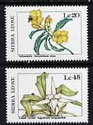Sierra Leone 1987 Flowers - the 2 values unmounted mint from Flora & Fauna set, SG 1085 & 1087*