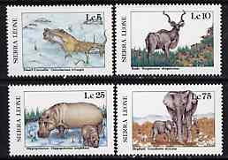 Sierra Leone 1987 Animals - the 4 values unmounted mint from Flora & Fauna set, SG 1083, 1084, 1086 & 1089*